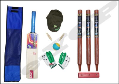 e-YOP Popular Willow Cricket Bat With Wickets 3 Pcs, 2 Pcs Bails, Batting Gloves With 1 Tennis Ball