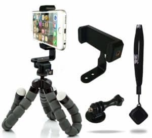 iPhone Tripod with Bonus Bluetooth Shutter Remote By Camrah