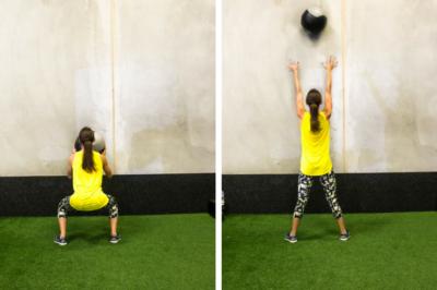 medicine ball cardio workout wall toss