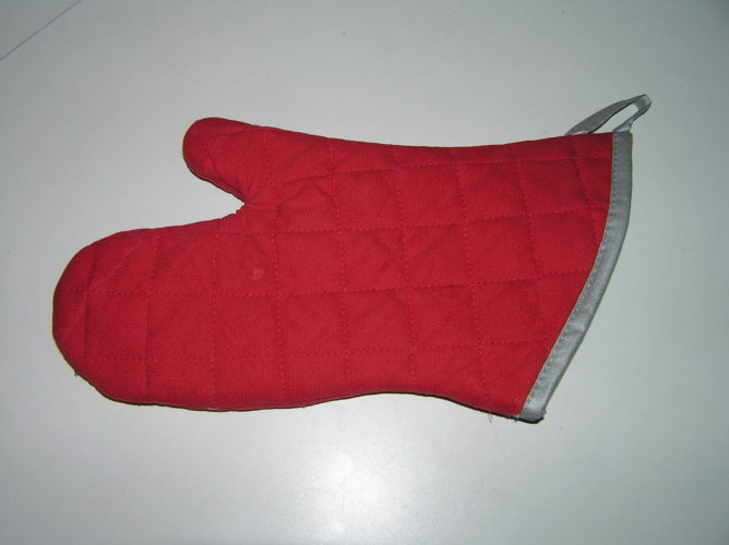 microwave oven baking glove