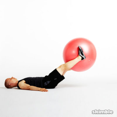 skimble workout trainer stability ball leg lifts 2 iphone